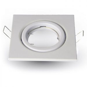 Βάση Σποτ GU10 Led Τετράγωνη Λευκή V-TAC