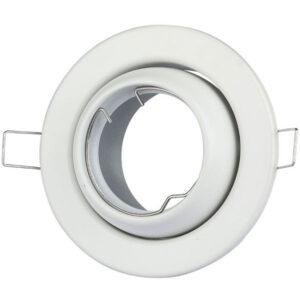 Βάση Σποτ GU10 Στρογγυλή Άσπρη