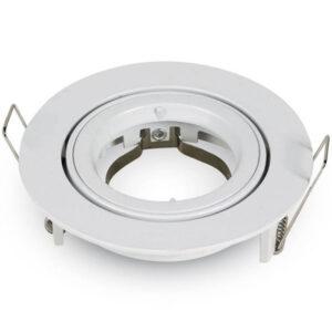 Βάση Σποτ GU10 Στρογγυλή Άσπρη Φ81 x 34mm