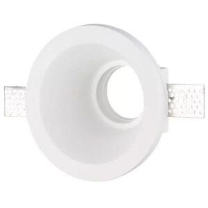 Βάση Σποτ GU10 Led Στρογγυλή Άσπρη Γύψινη Φ170x170x90mm