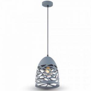 φωτιστικό οροφής μεταλλικό Ε27 μάτ γκρί