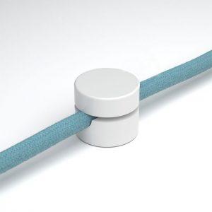 λευκό στήριγμα τοίχου για υφασμάτινο καλώδιο