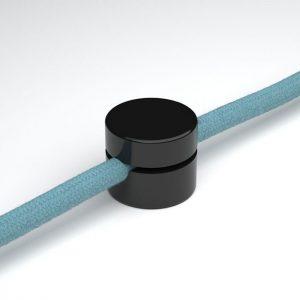 μαύρο στήριγμα τοίχου για υφασμάτινο καλώδιο