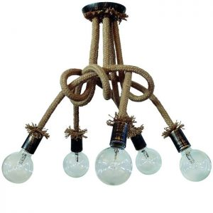 Φωτιστικά Ξύλινα -Και Με Σχοινί