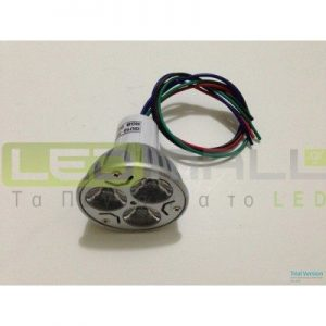 Σπότ Led 3W 5V 60° RGB DMX