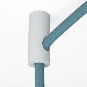 άσπρο στήριγμα τοίχου με γάντζο και στόπ για υφασνάτινο κλαώδιο άσπρο-στήριγμα
