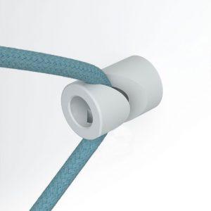 Άσπρο στήριγμα τοίχου για υφασμάτινο καλώδιο