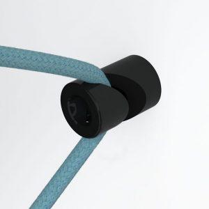 Μαύρο στήριγμα τοίχου για υφασμάτινο καλώδιο-2