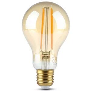 Λάμπα Led Α70 12.5W Filament E27 1240lm Αmber Γυαλί