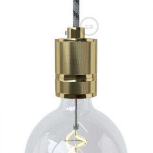 Βιομηχανικό ντουί αλουμινίου Ε27 χρυσό με στήριγμα
