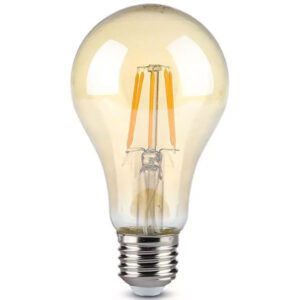 Λάμπα LED E27 10W A67 Filament Ζεστό λευκό Αmber Γυαλί