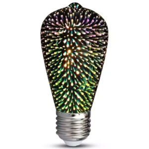 Λάμπα Led E27 3W ST64 3D Special Art Filament
