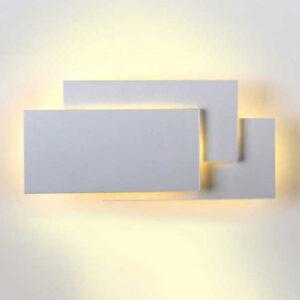 Απλίκα Τοίχου 12W Γκρί Σώμα Zεστό Λευκό