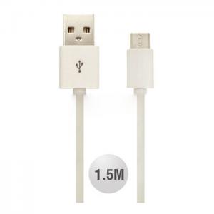 Kαλώδιο Micro Usb 1.5m Λευκό
