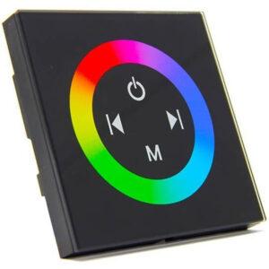 Επιτοίχιο Dimmer RGB Αφής Mαυρο