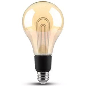 Λάμπα LED E27 G100 Filament Vintage 5W Ζεστό Λευκό Amber Γυαλί 2748