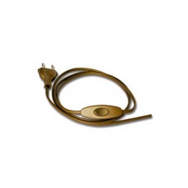 Καλώδιο 2x0.75 με Διακόπτη 1.5m Χρυσό