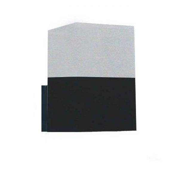 Επιτοίχιο Φωτιστικό/Απλίκα Ε27 Αλουμίνιο Σκούρο Γκρί IP54