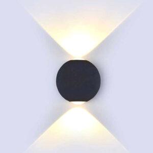 Φωτιστικό Led Aπλίκα/Τοίχου Σφαίρα Μαύρη 6W Ζεστό Λευκό