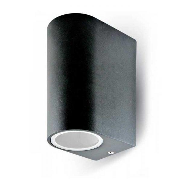 Επιτοίχιο Στρογγυλό Φωτιστικό για 2* GU10 IP54