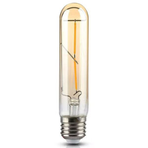 Λάμπα LED Filament E27 T30 2W 200lm 300° Amber Γυαλί Ζεστό Λευκό