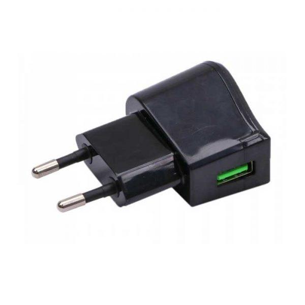 Φορτιστής - Αντάπτορας Ταξιδιού USB Μαύρος