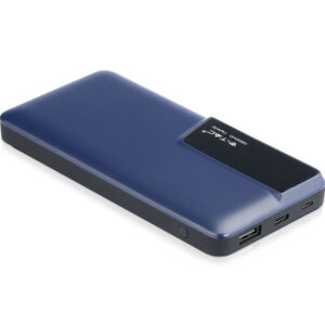 PowerBank 10000mAh με Οθόνη και Τype C USB Μπλέ