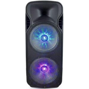 epanafortizomeno-hxeio-150W-kalodiako-asyrmato-mikrofono-RF-thlexeiristhrio-RGB-7733-v-tac