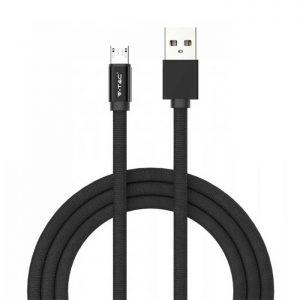Καλώδιο Micro USB 1m Μαύρο Ruby Series