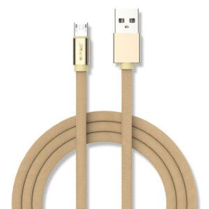 Καλώδιο Micro USB 1m Χρυσό Ruby Series