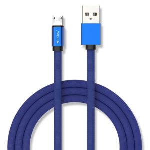 Καλώδιο Micro USB 1m Μπλέ Ruby Series