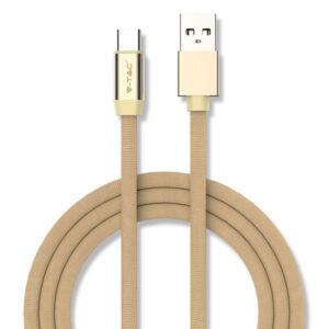 Καλώδιο USB-Type C 1m Χρυσό Ruby Series