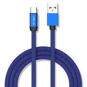 Καλώδιο USB-Type C 1m Μπλέ Ruby Series