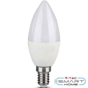 Λάμπα LED E14 Κερί 4.5W 230V 200° 300lm RGB+Ζεστό+Ψυχρο Λευκό Συμβατή με Amazon Alexa & Google Home 2754 V-TAC