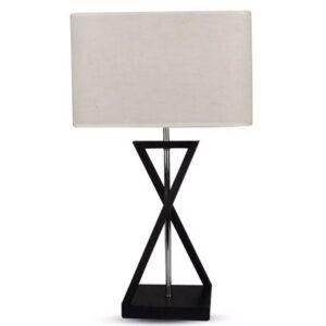 Επιτραπέζιο Φωτιστικό Ivory Μεταλλικό με Τετράγωνο Αμπαζούρ