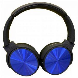 Περιστρεφόμενα Ακουστικά Κεφαλής Ασύρματα με Bluetooth 500mAh Μπλέ
