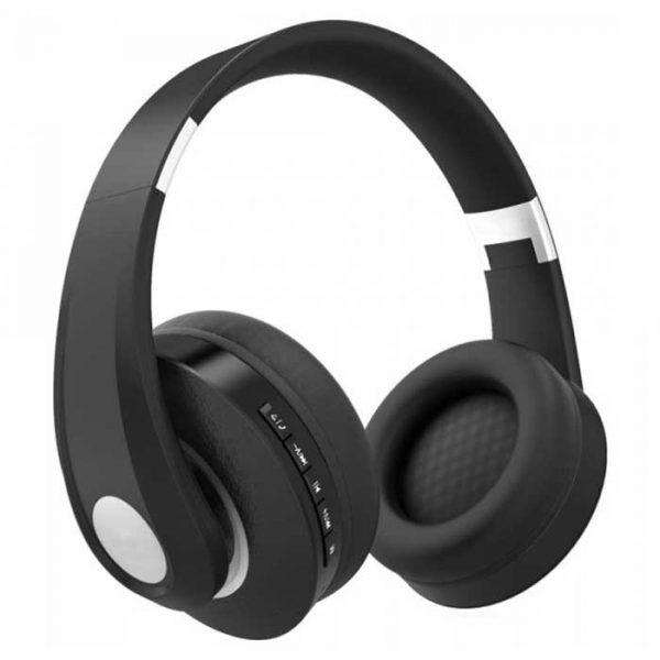 Ρυθμιζόμενα Ακουστικά Κεφαλής Ασύρματα με Bluetooth 500mAh Μαύρο 7730