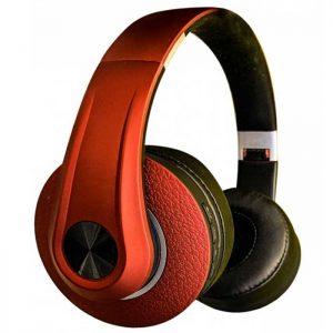 Ρυθμιζόμενα Ακουστικά Κεφαλής Ασύρματα με Bluetooth 500mAh Κόκκινα
