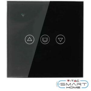 Χωνευτό Dimmer Αφής-WiFi συμβατό με Amazon Alexa & Google Home Mαύρο