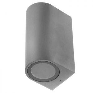Εξωτερικό Φωτιστικό Led Στρογγυλό Aπλίκα για GU10 Up-Down