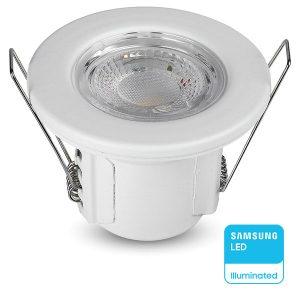 Σπότ LED Χωνευτό 5W Downlight Samsung Chip IP65 Ζεστό Λευκό Dimmable 8177