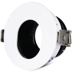 Βάση Spot Χωνευτή GU10 Στρογγυλή με Λευκό & Μαύρο Σώμα