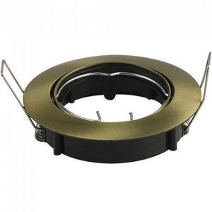 Βάση Spot Χωνευτή GU10 Στρογγυλή Κινητή Χρυσο Σώμα 8580