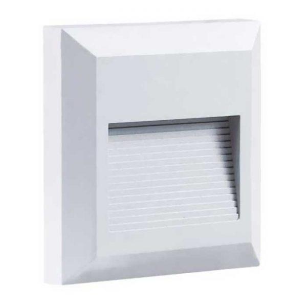 Τετράγωνο Εξωτερικό Φωτιστικό 2W 230V 55° 80lm Φυσικό Λευκό IP65