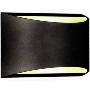 Eπιτοίχιο Φωτιστικό LED 10W 230V 120° 800lm IP54 Bridgelux Chip Μαύρο σώμα Φυσικό Λευκό V-TAC 8684