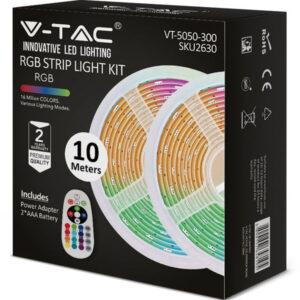 kit-tainias-LED-RGB-4.8W-12V-thlexeiristhrio-trofodotiko