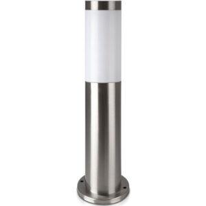epidapedio-fotistiko-khpou-kolonaki-E27-45cm-stroggylo-IP44-Anokseidoto-Atsali-Satin-Nickel-V-TAC