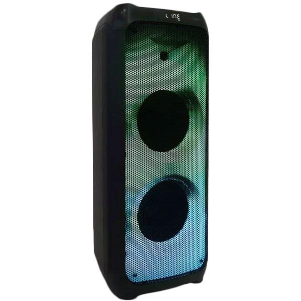 epanafortizomeno-hxeio-100W-asyrmato-mikrofono-RF-thlexeiristhrio-RGB-8982-v-tac
